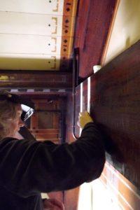 Reinigingstesten voor collega restauratoren