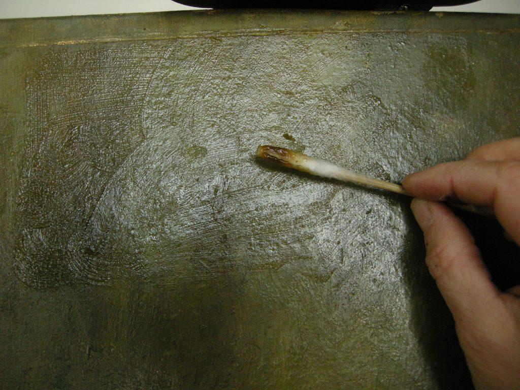 vernis van schilderij verwijderen