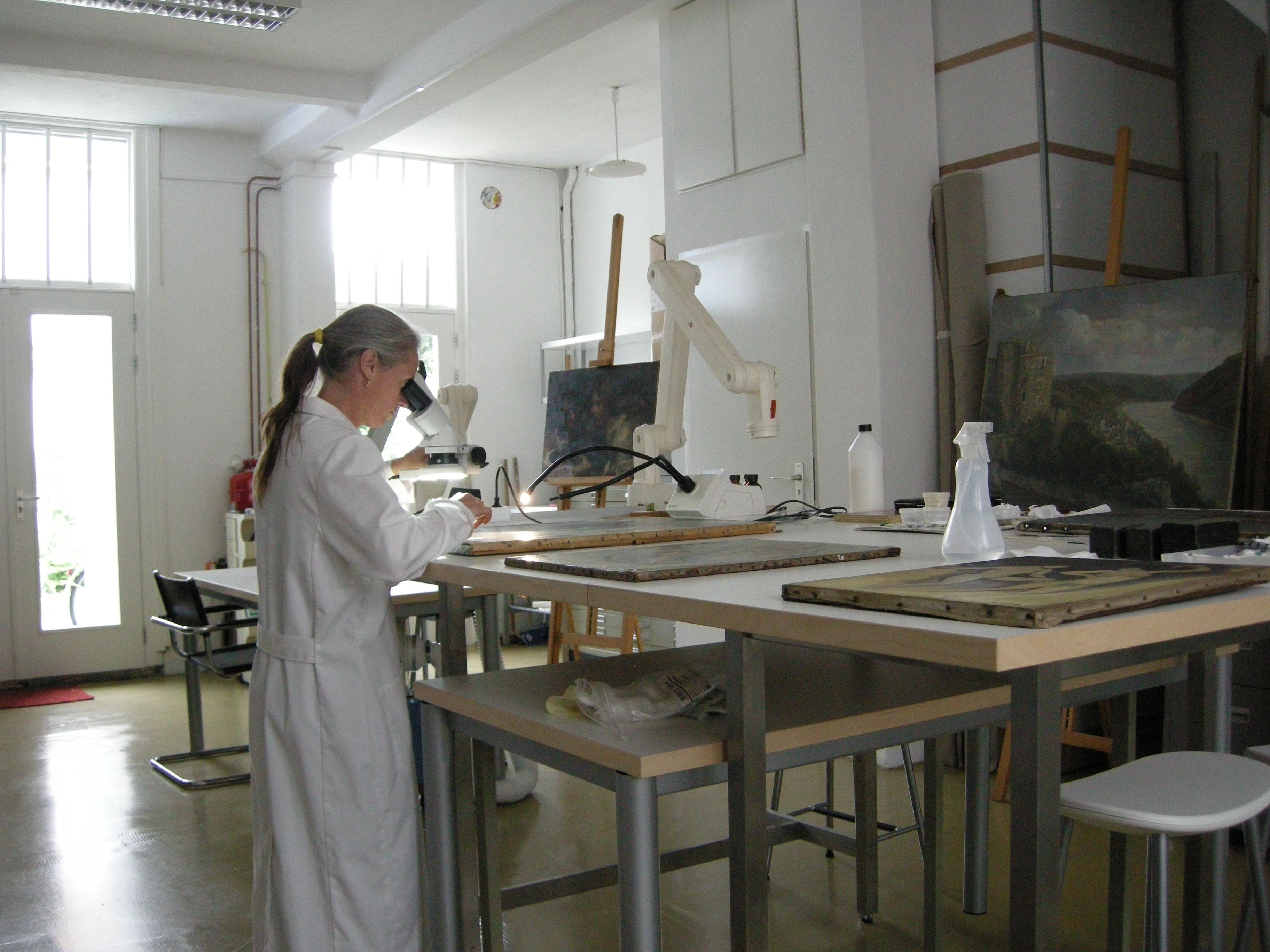 restauratie en conservering van schilderijen