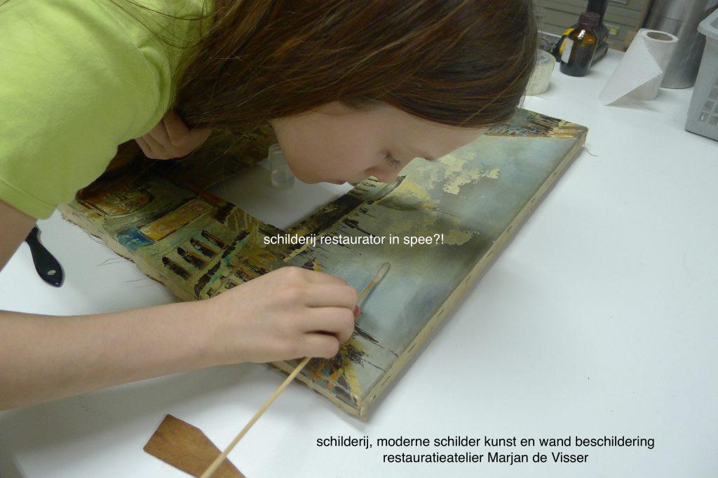 schilderij restauratie moderne schilderkunst