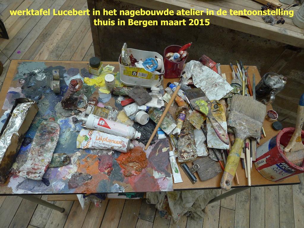 museum kranenburgh thuis in bergen lucebert-werktafel maart 2015