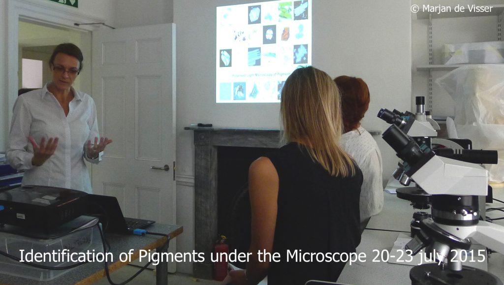 identification of pigments under teh microscope