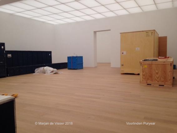 opbouw tentoonstelling Puryear in Museum Voorlinden