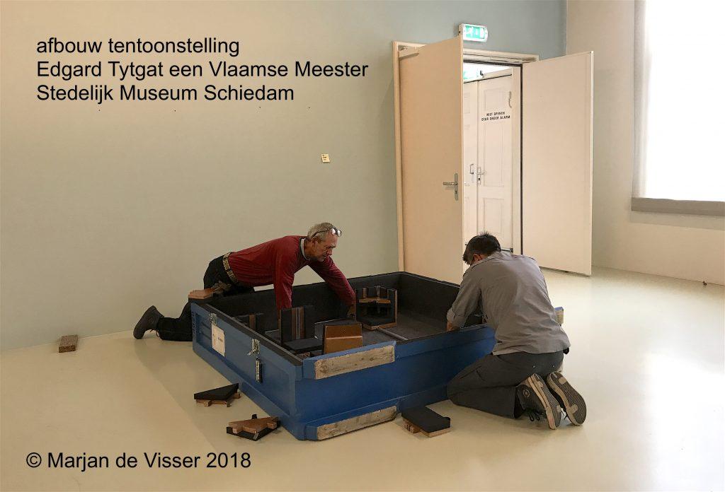 afbouw tentoonstelling