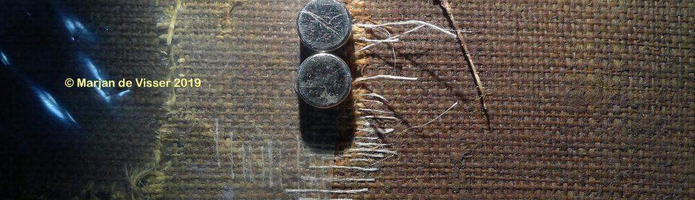 een scheur in een schilderij repareren bij schilderij restauratie