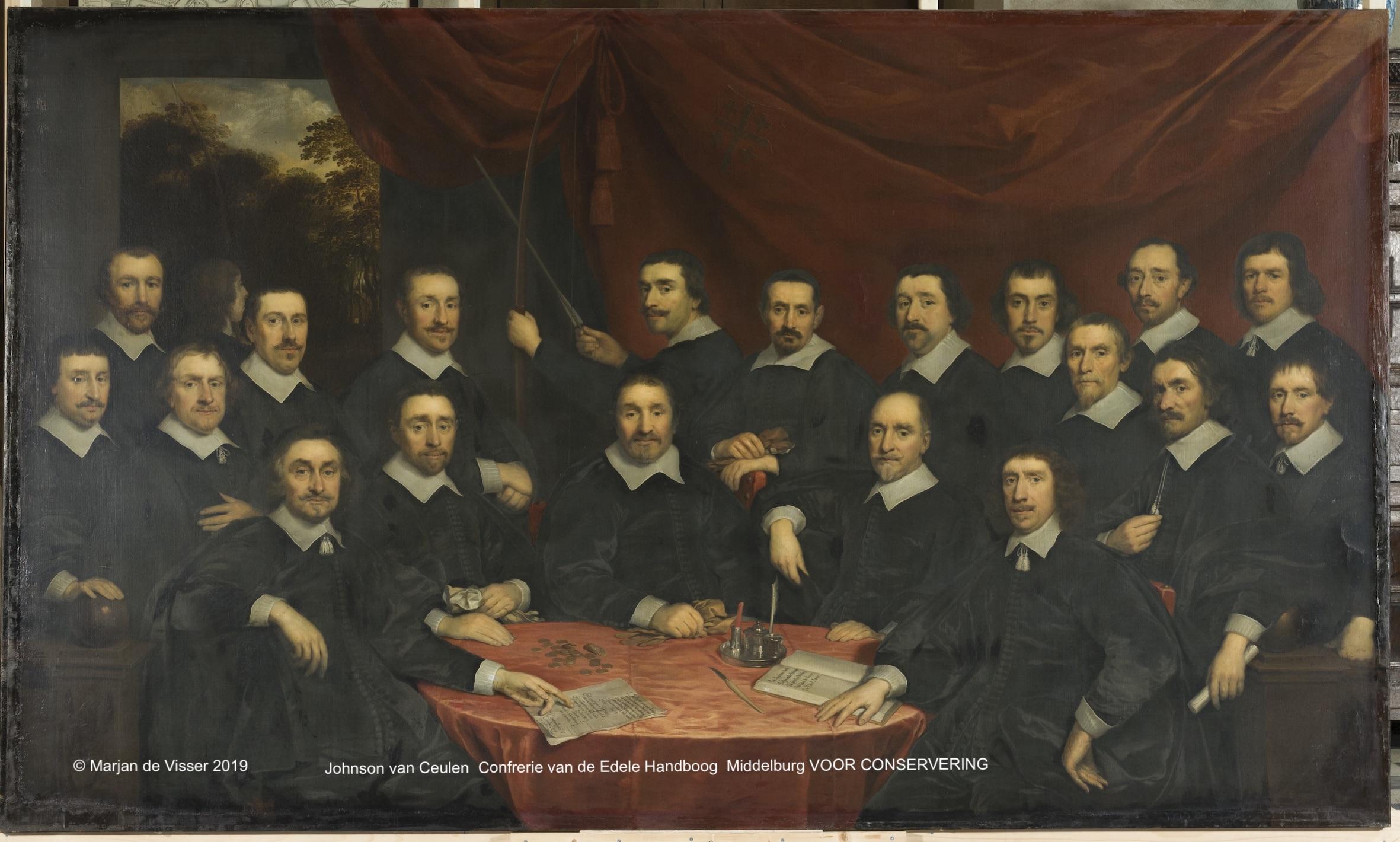 Johnson van Ceulen schilderde het schuttersstuk 'Van den Edelen Handboog' in 1650. In 2016 kreeg Marjan de Visser uit hande van de leden de opdracht tot restauratie van dit schilderij