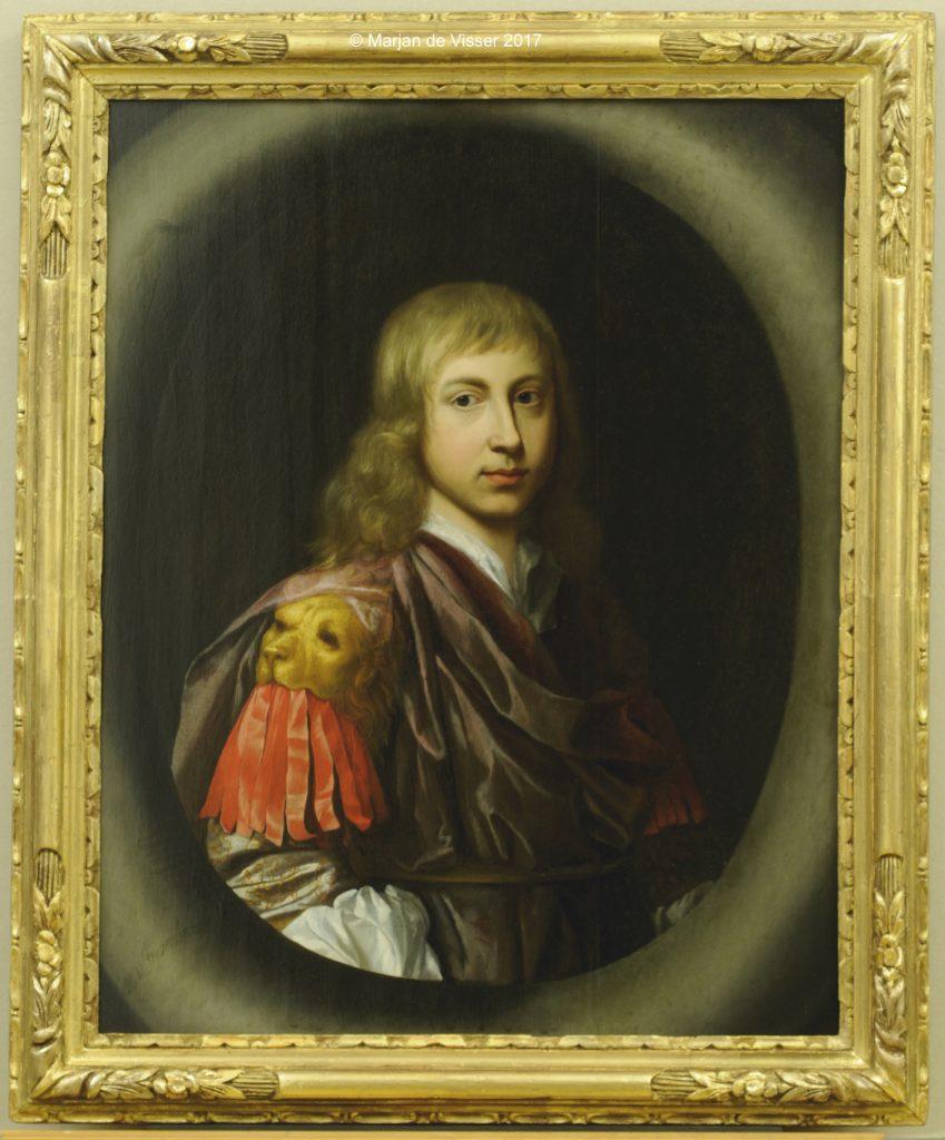 schilderij en lijst na restauratie; een portret van Edzard Jacob Tjarda van Starkenborgh heer van Verhildersum te Leens