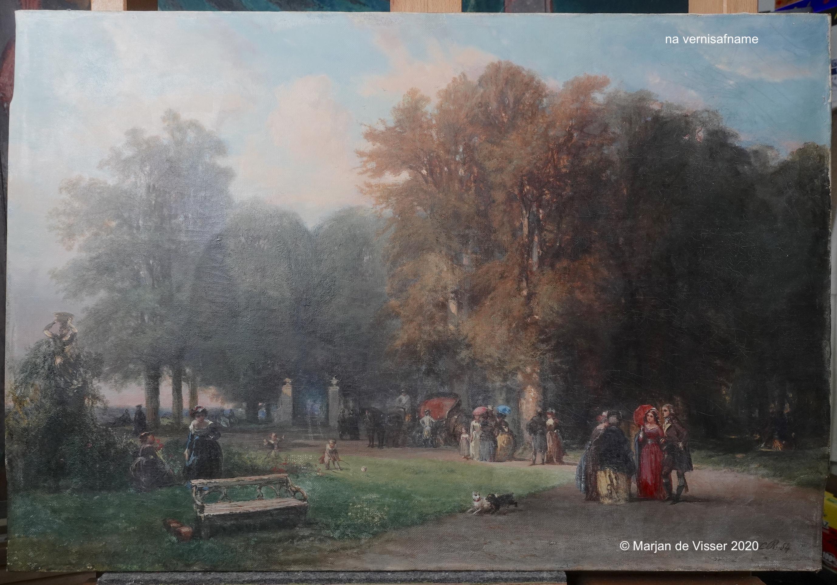 schilderij na vernisafname