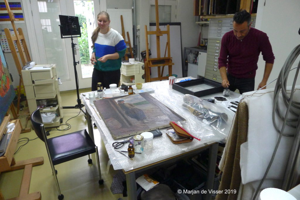 conservation and restoration of paintings
